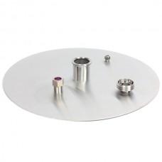 Крышка для перегонного куба 37 литров (D360) кламп 1,5 дюйма с разъемом для парогенератора